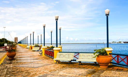 Boardwalk along Brazil coast
