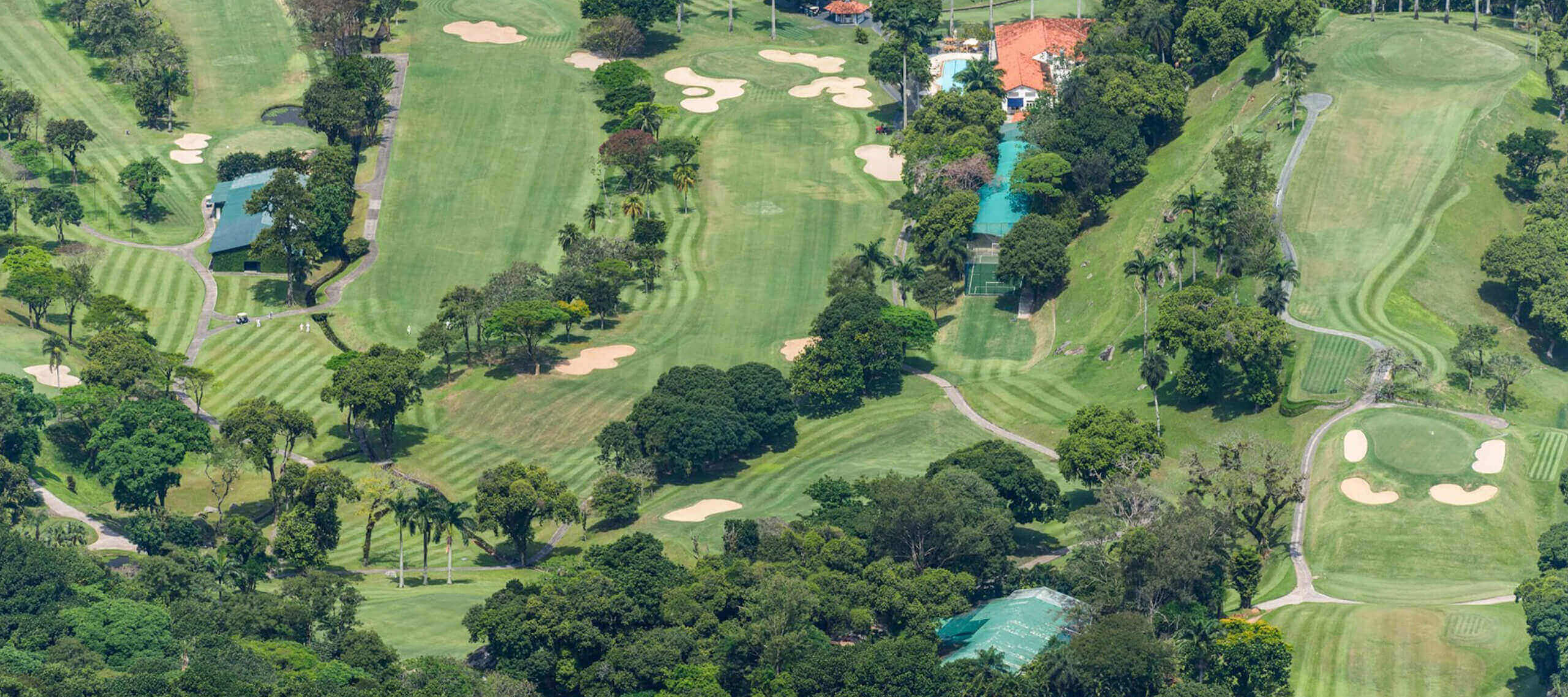 Aerial view of a golf course in Brazil