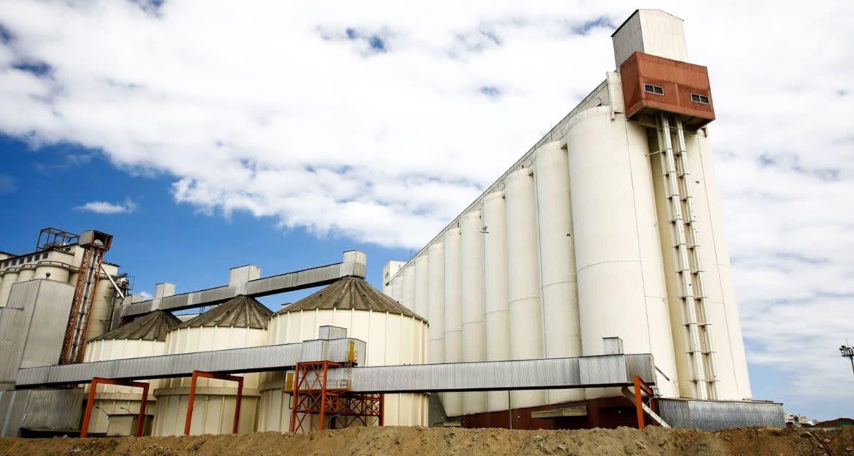 Farm silos in Santos, Brazil