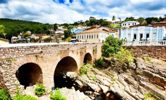 Stone bridge in Brazil town