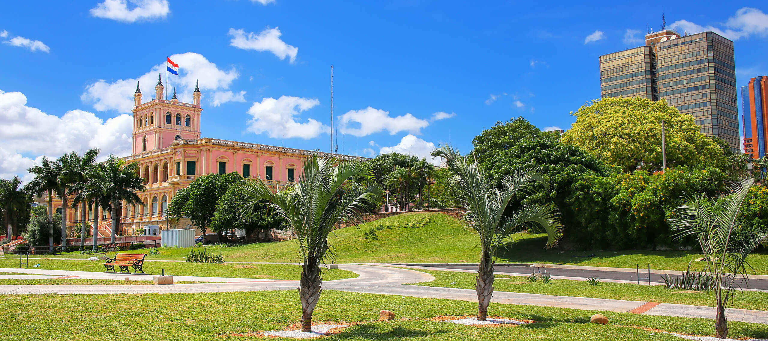 buildings in paraguay on a sunny day