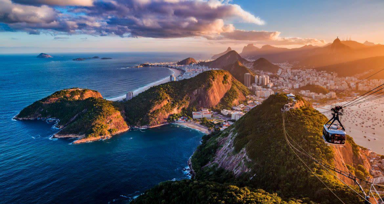 Cable car over Rio de Janeiro, Brazil