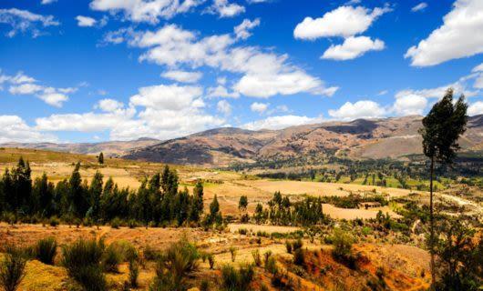 Cajamarca Valley in Peru