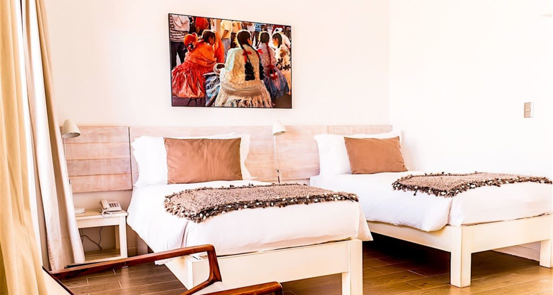 Double bedroom at Casa Atacama