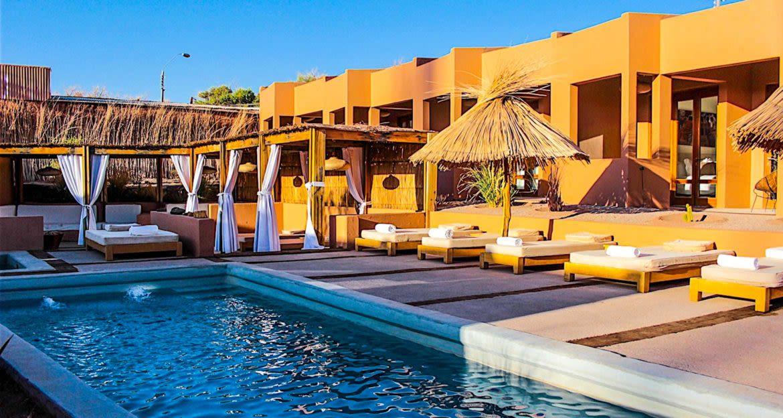 Outdoor pool area at Casa Atacama