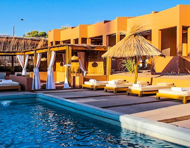 Outdoor pool area at Casa Atacama