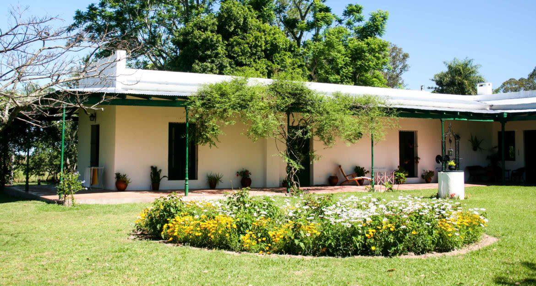 Small flower garden outside of Casco Estancia building