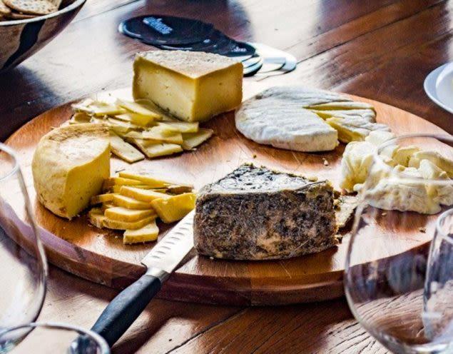 Cheese platter at Brazil wine testing