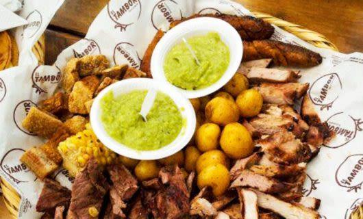 Close up of chorizo meal
