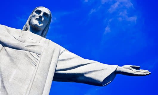 Close up of Christ the Redeemer