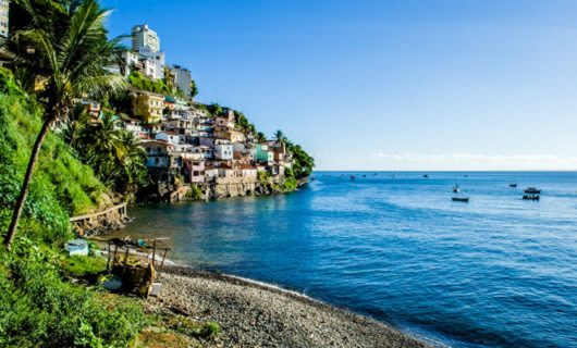 Coastal town of Gamboa, Brazil