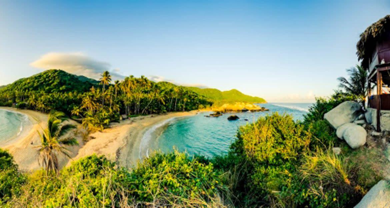 Fisheye view of Colombia beach