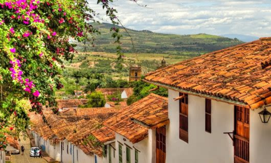 Roofline of Colombia town
