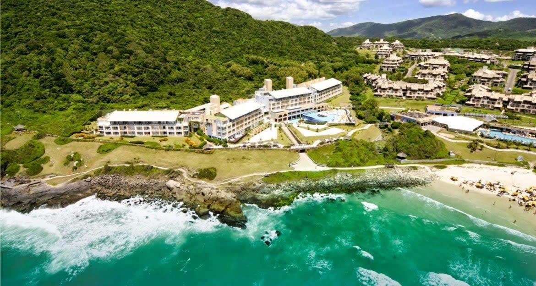 Aerial view of Costao Santinho Resort in Brazil