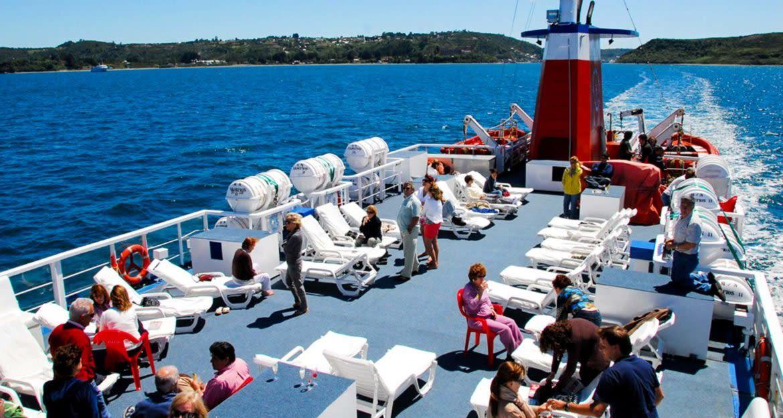 Deck of Cubierta cruise ship