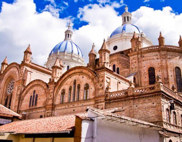 Large stone building in Cuenca, Ecuador