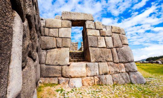 Stone wall of Inca ruins near Cuzco