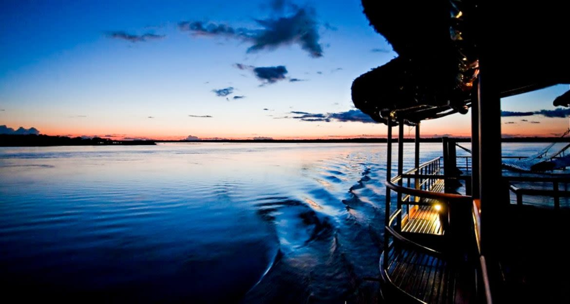 Amazon River Cruise in the evening