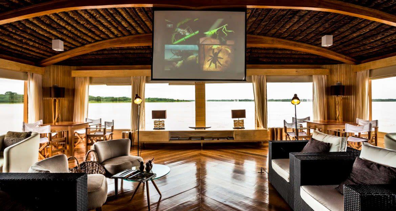 Lounge of Delfin cruise ship