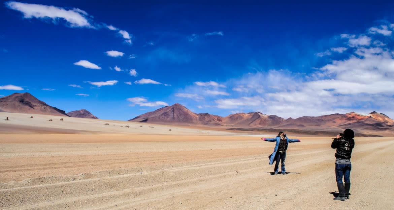 two women in desert