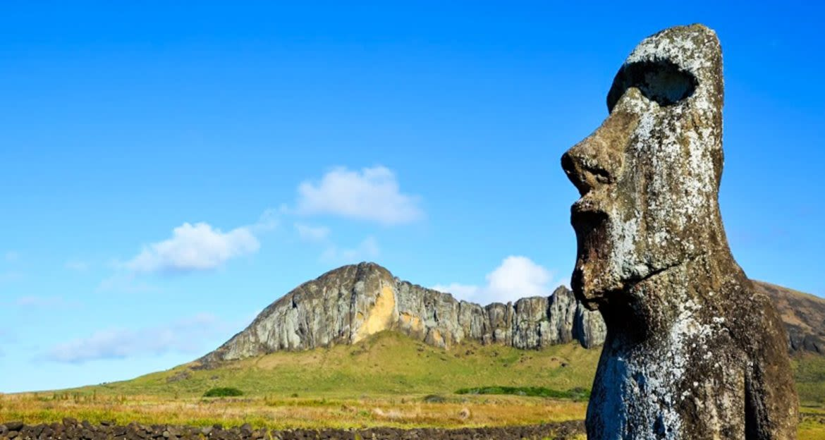 Head statue on Easter Island
