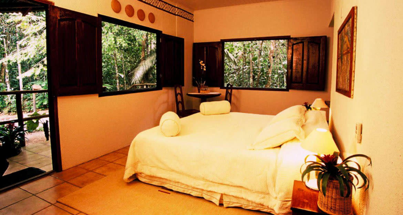 Interior of room at Eco Park Lodge in Brazil