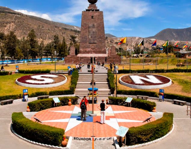 Plaza of the Middle of the World in Quito, Ecuador