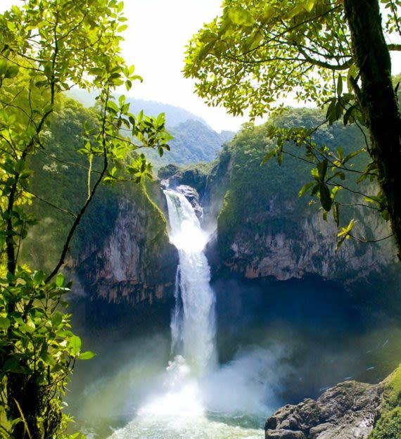 Waterfall in the woods of Ecuador