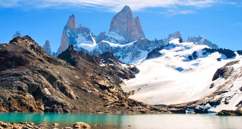 Peaks of mountains near El Chalten, South America