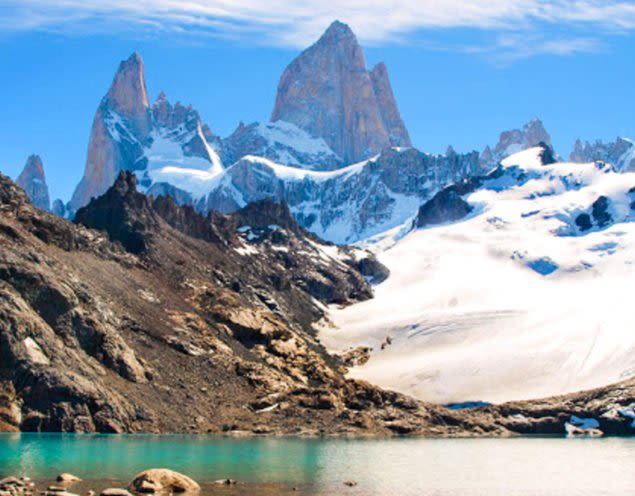 Peaks of mountains near El Chalten, South America