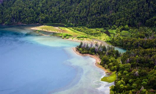 Aerial view of Futalaufquen Lake