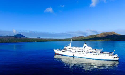M/V Galapagos Legend cruise ship on ocean