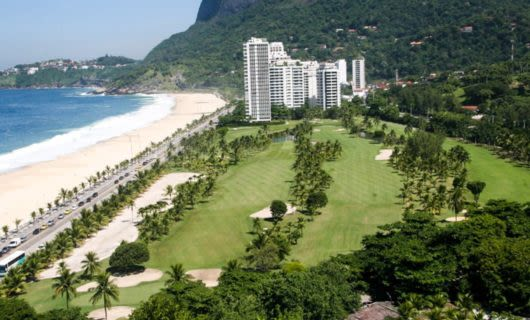 Beach and Gavea gold club in Brazil