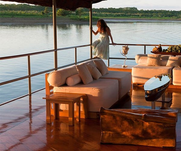 relaxing outdoor living on amazon cruise