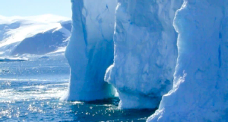 Walls of glaciers
