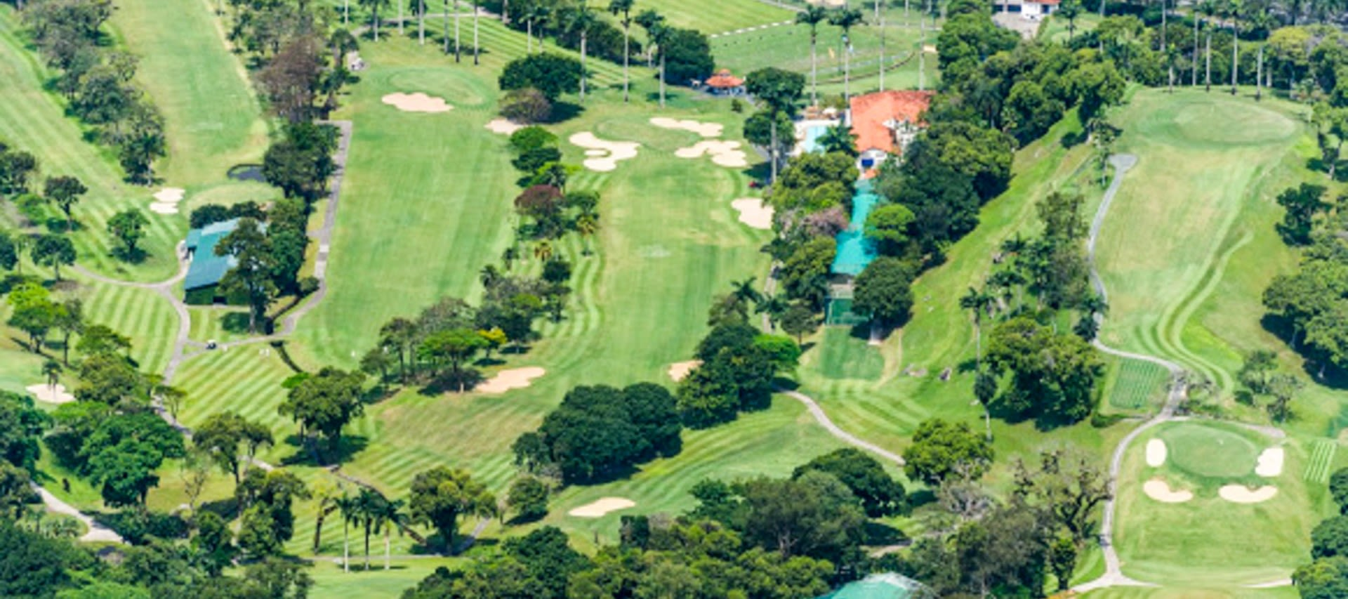 Aerial view of South America golf course