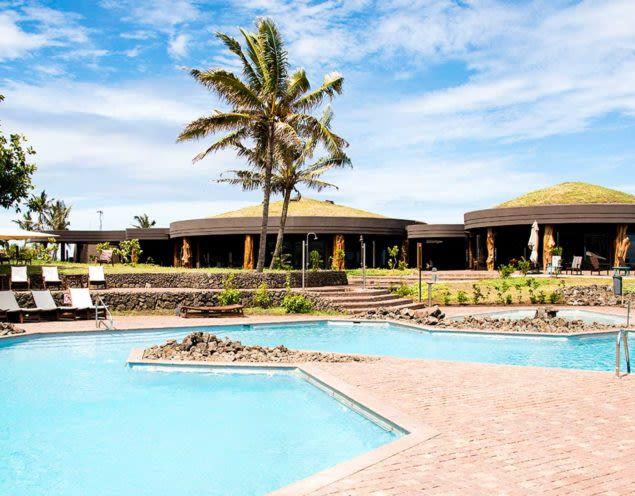 Outdoor pool of Hangaroa Eco-Village