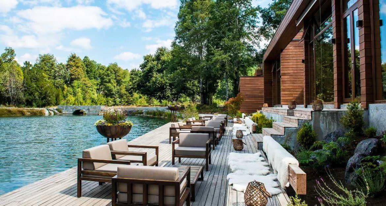 Outdoor deck of Hotel Vira Vira