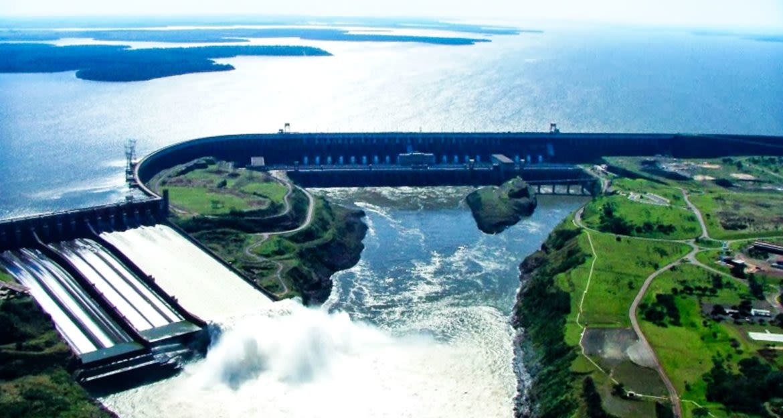 Aerial view of Itaipu Dam in Paraguay