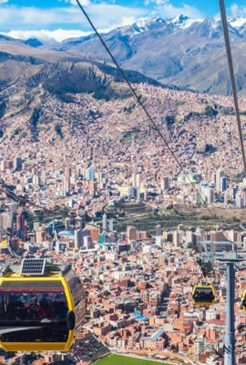 cable car in la paz bolivia
