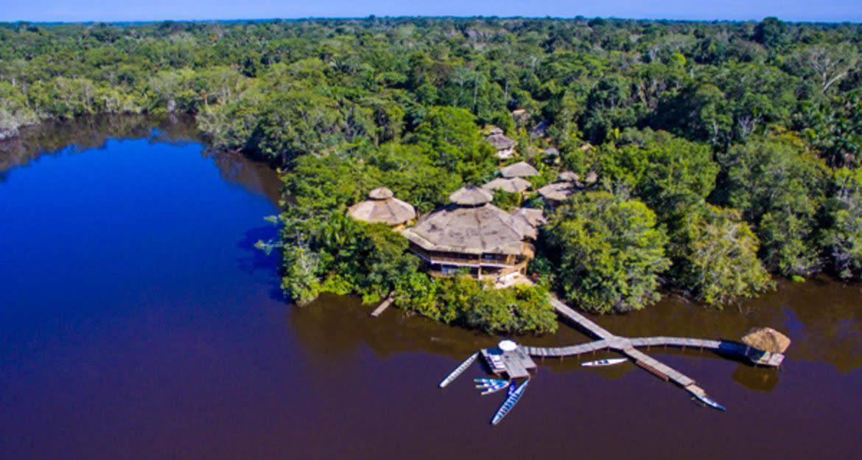 Aerial view of La Selva Amazon Lodge