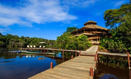 Docks in front of La Selva Lodge