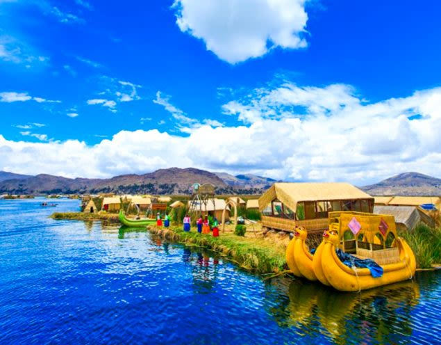 Lake Titicaca in Bolivia