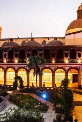 Courtyard of building in Lima City, tours here are often loved by our guests.