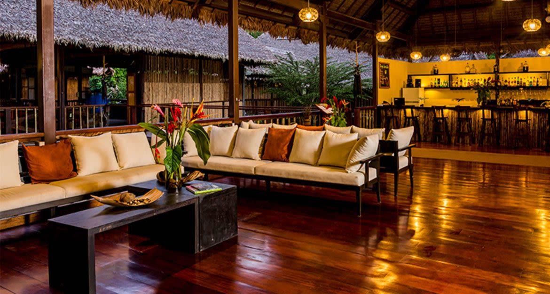 Bar and lounge at resort
