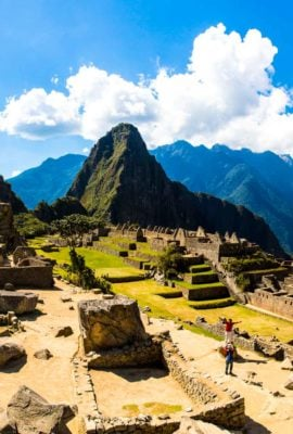 Panorama of Machu Picchu'