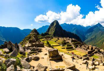 Panorama of Machu Picchu's peak