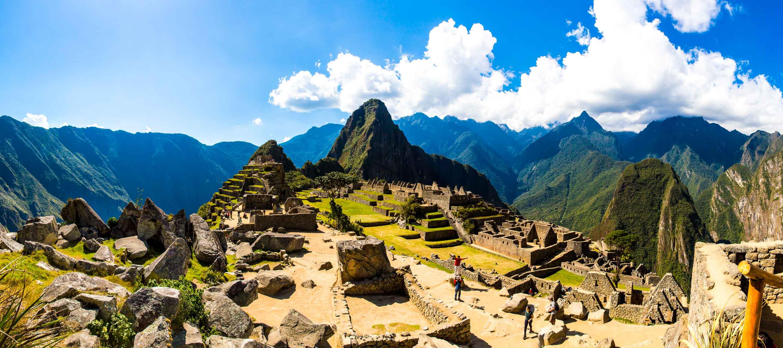 Panorama of Machu Picchu'