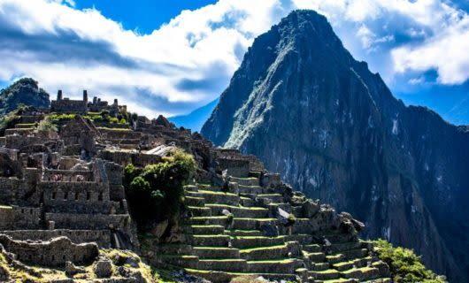 Side view of Machu Picchu