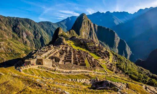 View across Machu Picchu